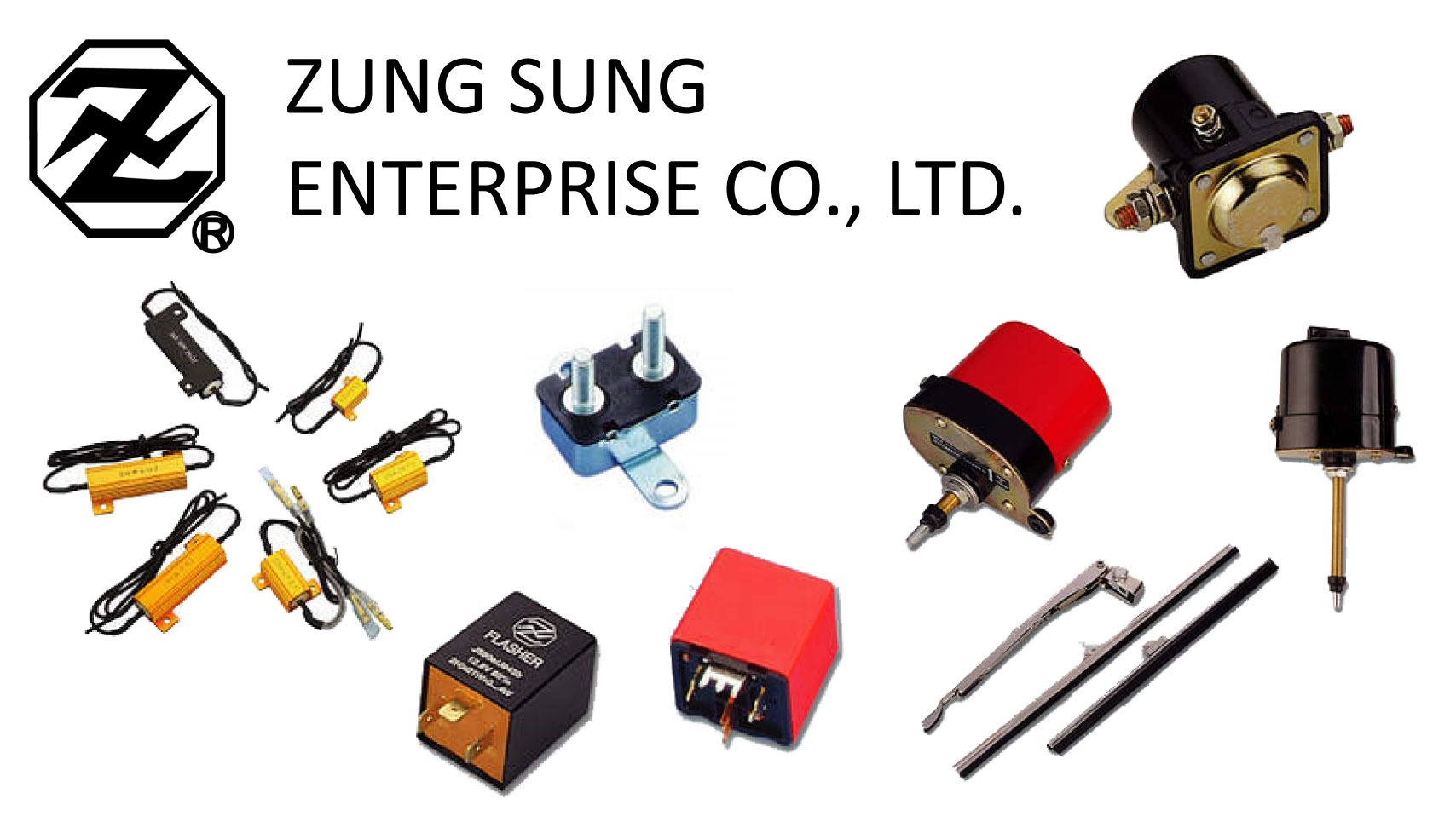 Resistor Relay, Flasher Relay, Circuit Breaker, Wiper Arm, Wipers, Relay Series, Starter Solenoids for Sensor & Relay made by ZUNG SUNG ENTERPRISE CO., LTD. 積順企業有限公司 – MatchSupplier.com
