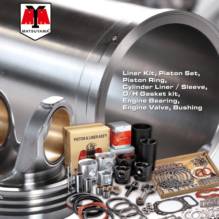 Cylinder Liner Kits For Engine Parts made by MATSUYAMA CO., LTD. 明芝亞實業有限公司 – MatchSupplier.com