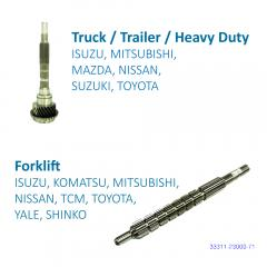 Truck / Trailer / Heavy Duty Input Shaft for Transmission Systems made by FITORI INDUSTRIAL CO., LTD. (FU-SHEN) 馥勝工業股份有限公司 - MatchSupplier.com