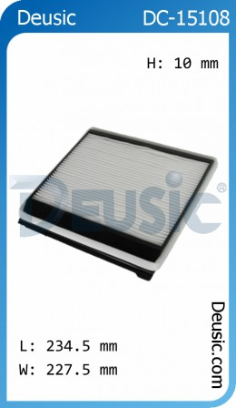 Automobile Cabin Air Filters for Fuel Systems & Engine Fittings made by Deusic Autoparts Co., LTD. 德斯汽配有限公司 - MatchSupplier.com