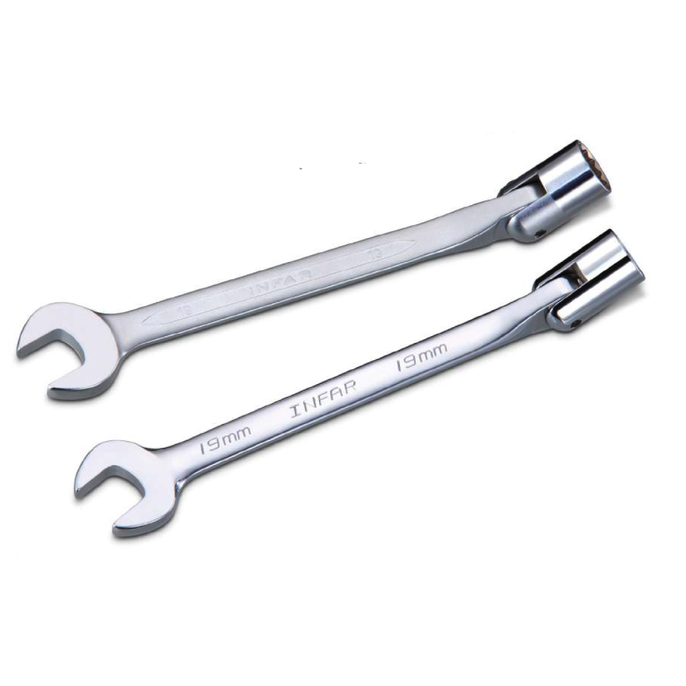 Truck / Agricultural / Heavy Duty Flexible Socket Combination Wrench  for Repair Hand Tools made by INFAR INDUSTRIAL CO., LTD. 	英發企業股份有限公司 - MatchSupplier.com